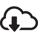 Cloud Send Download Icon