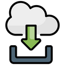 Cloud Downloads Icon