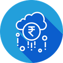 Cloud Earning Fortune Icon