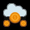 Cloud Income Cloud Money Cloud Banking Icon