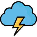 Cloud Lightning Icon