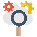Cloud Searching Cloud Computing Cloud Technology Icon
