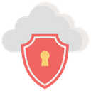 Cloud Protection Cloud Technology Cloud Security Icon