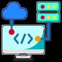 Cloud Server Web Icon