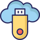 Cloud Usb Cloud Flash Usb Icon
