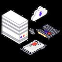 Cloud Storage Database Data Warehouse Icon