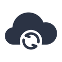 Sync Cloud Data Icon