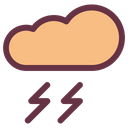 Cloud Thundering Icon