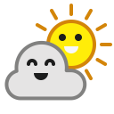 Cloudy Sun Happy Icon