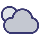 Cloudy Night Moon Icon