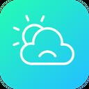 Cloudy Cloud Sad Icon