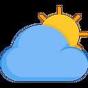 Cloudy Day Cloud Sun Icon