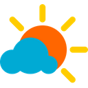 Cloudy Sun Sun Cloud Icon