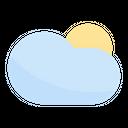 Cloudy Sun Icon