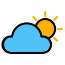 Weather Cloudy Sun Icon