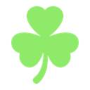 St Patricks Day Chat Clover Icon
