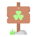 Clover Sign Board Icon