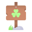 Clover Sign Board Icon