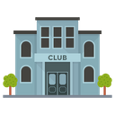 Club Building Clubhouse Bar Icon