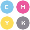 Cmyk Color Color Code Icon