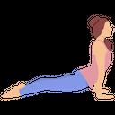Cobra Pose Bhujangasana Yoga Icon