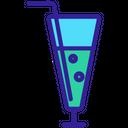 Mocktail Alcohol Straw Icon