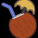 Beach Coconut Drink Icon