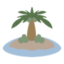 Island Beach Coconut Icon