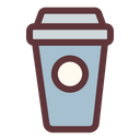Coffee Glass Disposable Glass Drink Icon