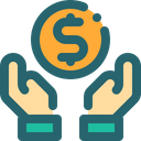 Coin Business Hand Icon