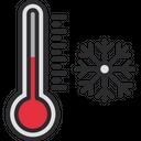 Cold Temprature Winter Snow Icon