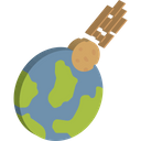 Collision Comet Disaster Icon