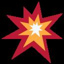Collision Spark Cracker Icon