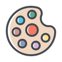 Color Palette Brush Icon