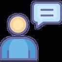 Communication Speech Bubble User Icon