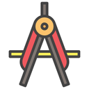 Compass Stationary Geomatery Icon