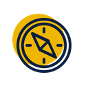 Compass Travel Direction Icon