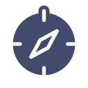 Compass Direction Camping Icon