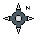Compass Guidance Directive Icon