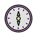 Compass Qibla Decoration Icon