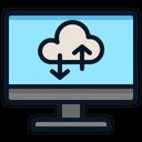 Computer Cloud Backup Icon