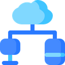 Cloud Network Computer Icon