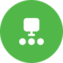 Computer Connection Chain Icon