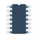 Computer Chip Electronic Icon