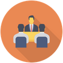 Conference Meeting Team Icon