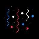Confetti Blue Celebration Icon