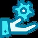 Configuration Gear Hand Icon