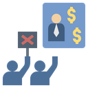 Conflict Demonstration Capitalism Icon