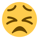 Confounded Face Cry Icon