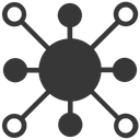 Connectivity Share Connector Icon
